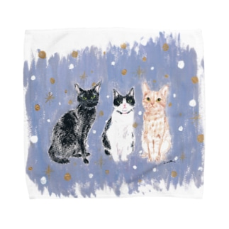 3catfriends Towel handkerchiefs