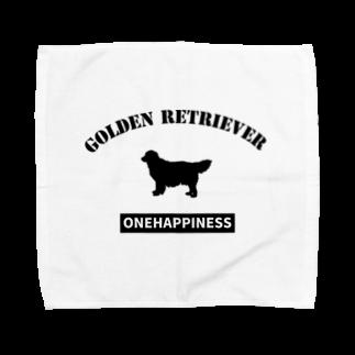 onehappinessのゴールデンレトリバー Towel handkerchiefs