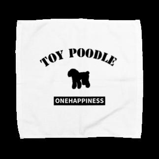 onehappinessのトイプードル Towel handkerchiefs