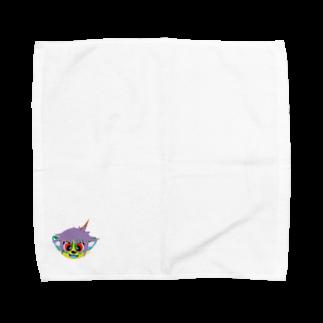 第1020惑星ハリーカ オンラインショップ suzuri店のえめ Towel handkerchiefs