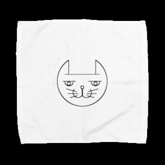 ヒロさんのグッズのネコだお Towel handkerchiefs