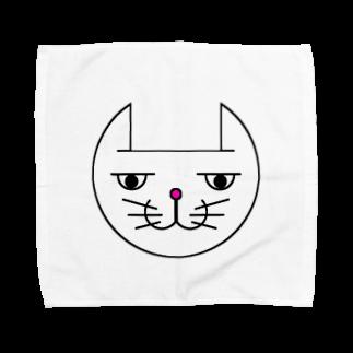 ヒロさんのグッズのネコだお(カラー) Towel handkerchiefs