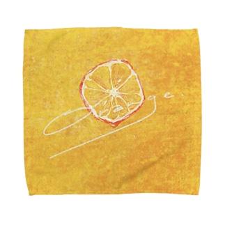 オレンジ Towel handkerchiefs