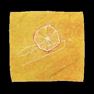 たかくらのどかのオレンジ Towel handkerchiefs