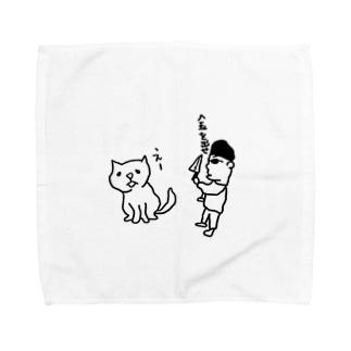 猫と強盗 Towel handkerchiefs
