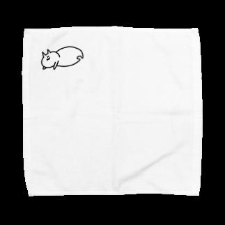 豆腐[ 'ω' ]のだれるてぐせねこ Towel handkerchiefs