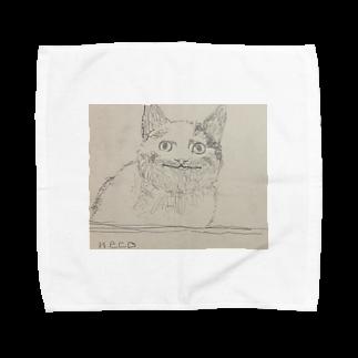 梅のneko Towel handkerchiefs