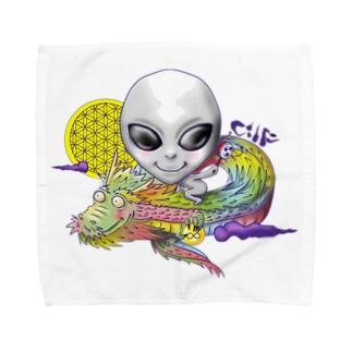 宇宙人×虹龍 Towel handkerchiefs