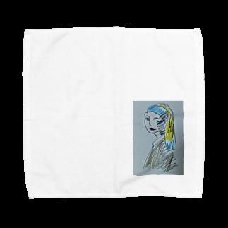 ✈オノウエ コウキの青いターバンの女? Towel handkerchiefs