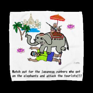 uwotomoの【THAILAND】象に乗った強盗 Towel handkerchiefs