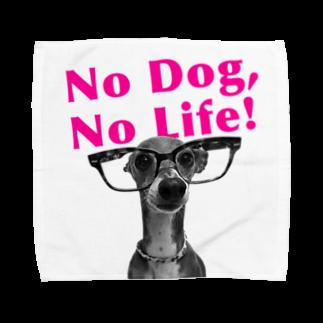 イロハのNo dog,No life! ピンク Towel handkerchiefs