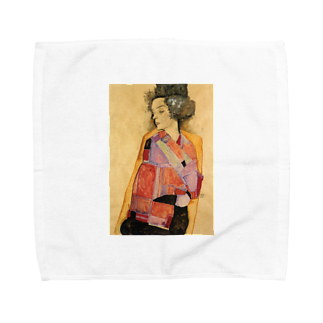 Art Baseのエゴン・シーレ / 1911 / The Daydreamer (Gerti Schiele) / Egon Schiele Towel handkerchiefs
