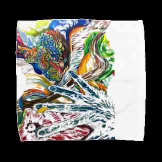 色鉛筆 Life Timeのエネルギー Towel handkerchiefs
