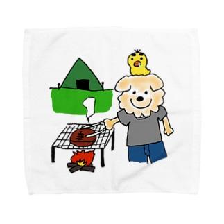 はるやんとぴよまるのBBQ Towel handkerchiefs