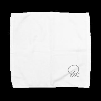 おもち屋さんの「ちぇっ」なクラゲ Towel handkerchiefs