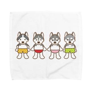 おパンツハスキー4 Towel handkerchiefs