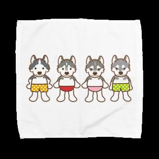 HUS×HUSのおパンツハスキー4 Towel handkerchiefs