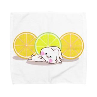 うさころと柑橘フルーツ Towel handkerchiefs