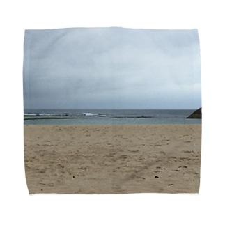 沖縄の浜辺 Towel handkerchiefs
