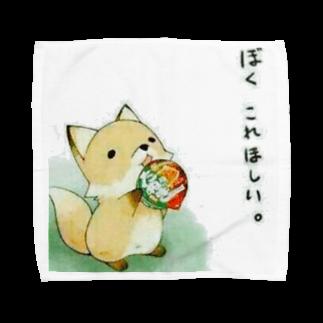 LRqWAQu9fOhj7WZのきつね Towel handkerchiefs