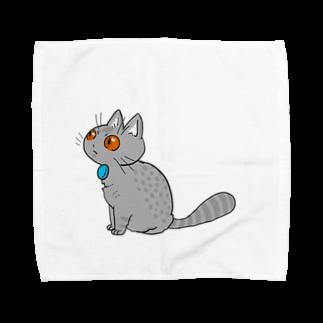 figのおすわりねこたろ Towel handkerchiefs
