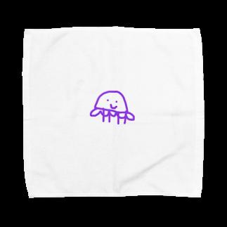 まつこの脳みそのあるくらげ Towel handkerchiefs