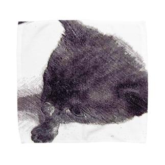 『黒仔猫ココア』 Towel handkerchiefs