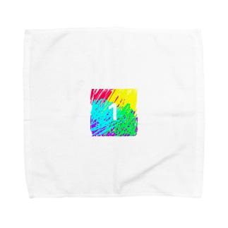 虹色とワン Towel handkerchiefs