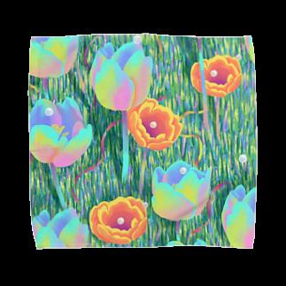 下之下の虹色芝生 Towel handkerchiefs