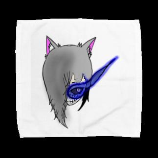 市イラストグッズショップの獣skull Towel handkerchiefs