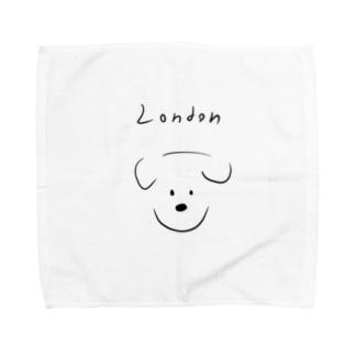 London dog -Maison Pomme Towel handkerchiefs