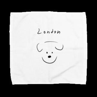 Maison PommeのLondon dog -Maison Pomme Towel handkerchiefs