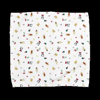 yuzutyobiの賑やか猫ちゃん Towel handkerchiefs