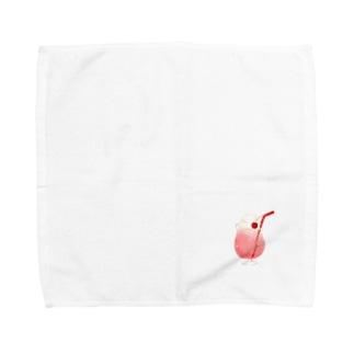 レッドクリームソーダ Towel handkerchiefs