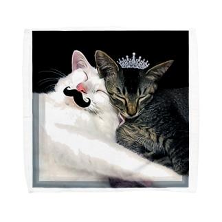 おでん姫とむーんさん Towel handkerchiefs