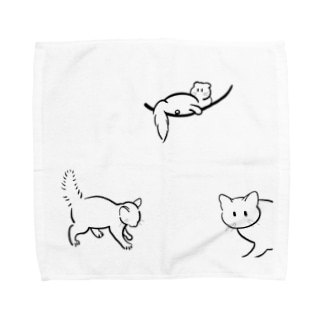 優しいねこ Towel handkerchiefs