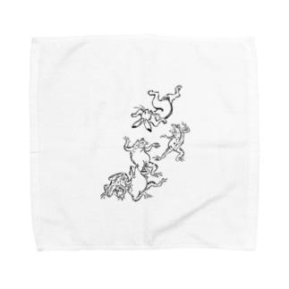 鳥獣戯画フロントメイン Towel handkerchiefs