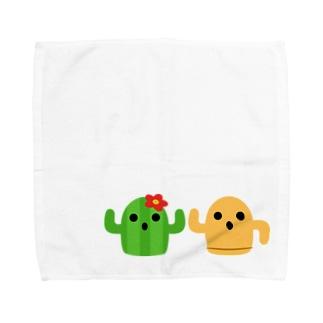 ハニワとサボテン Towel handkerchiefs