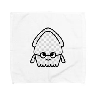 透明なイカくん Towel handkerchiefs