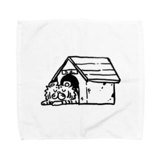家虎たま(お昼寝) タオルハンカチ Towel handkerchiefs