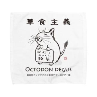 【草食主義】デグーの主張 Towel handkerchiefs