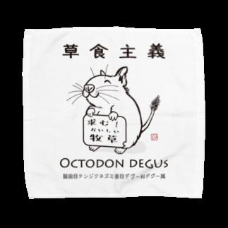 はやてん๑の【草食主義】デグーの主張 Towel handkerchiefs