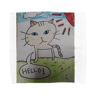 とら猫(茶) Towel handkerchiefs