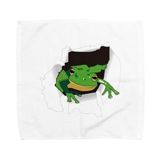破れから蛙 Towel handkerchiefs