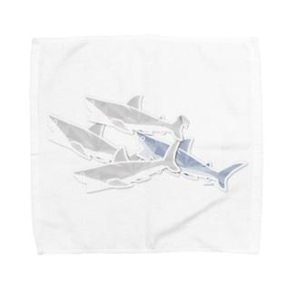 サメ の 重なるブリリアント シール Brillant SAME Seals 002 〈白地推奨〉 Towel handkerchiefs