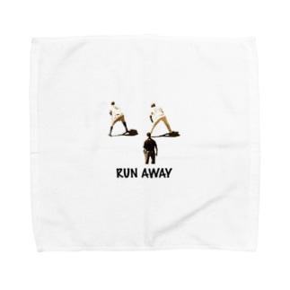 RUN AWAY 野球選手 Towel handkerchiefs