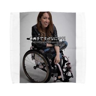 ロゴ入りで笑ってるよシリーズ Towel handkerchiefs