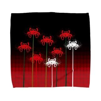 彼岸花のタオルハンカチ Towel handkerchiefs