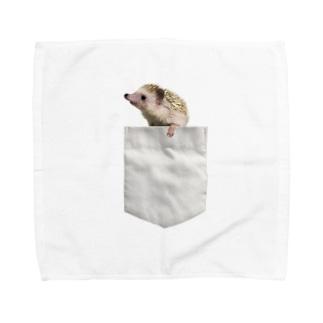 ポケットからハリネズミ Towel handkerchiefs