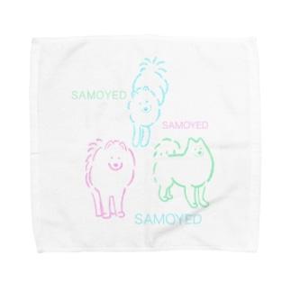 SAMOYED いぬ サモエド Towel handkerchiefs